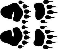 bitty black  bear track / footprint sticker /  mini paw  decals