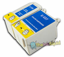 2 non-oem T036 T037/TO36 TO37 Ink Cartridges for Epson Stylus C44