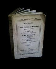 [BIBLIOPHILIE - BIBLIOGRAPHIE -BARON TAYLOR] Catalogue de livres rares & curieux