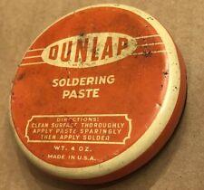 Vintage Dunlap Soldering Paste Tin
