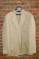 42 R / 52 EU Loro Piana Unlined Patch Pocket 100 % Linen Sport Jacket 3/2 Roll
