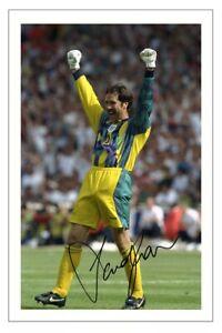 DAVID SEAMAN Signed Autograph PHOTO Signature Gift Print ENGLAND Soccer Euro 96