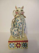"Jim Shore Heartwood Creek Cat ""Evangaline"" - Mib with hang tag"