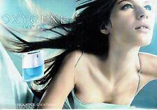 PUBLICITE ADVERTISING 126  2000   Eau parfum femme (2p) Oxygène  Lanvin