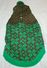 """New listing Blueberry Pet Snowflake Hooded Pullover Dog Sweater - Green 16"""""""