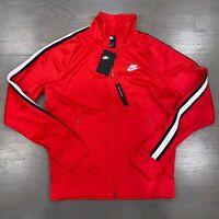 Nike Sportswear NSW Tribute Track Jacket Red Black AR2244-657 Size S MSRP $90