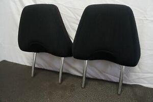 2013-2017 SCION FR-S BRZ OEM FRONT ROW SEAT HEADRESTS HEAD REST PAIR BLACK CLOTH