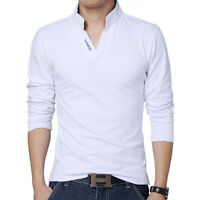 High Quality Brand Men Polo Shirt Slim Fit Solid Short Sleeve Stand Collar Shirt