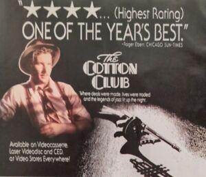 EMBASSY HOME ENTERTAINMENT Cotton Club Richard Gere 1985 Magazine Print Ad