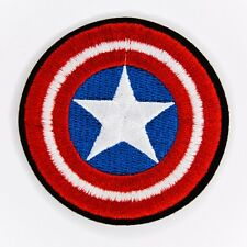 Captain America Shield Embroidered Iron Sew On Patch Tshirt Comic Badge Transfer