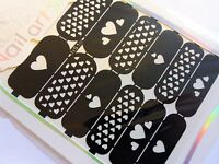 Nail Art Diecut Manicure Stencils Guide Hearts Tiny Heart Style Tip Stickers S10