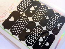 Nail Art Base Troquelada Manicure Plantillas guía Corazones pequeño corazón Estilo Punta pegatinas S10