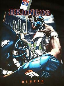 DENVER BRONCOS VINTAGE T SHIRT, NEW, LARGE, NFL, LICENSED