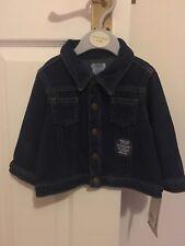 Bnwt Mamas And Papas Baby Girls Soft Denim Jacket Age 6-9 Cute