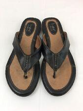 b.o.c. BORN CONCEPT Women's Black Slip-on Flip Flop Thong Sandal's Size 7 /38