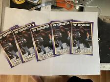 5 Vintage WWF WWE Coliseum Video Promo Postcard Undertaker lot of 5 1993