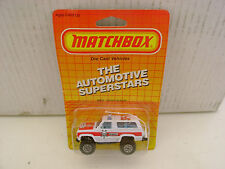 1987 MATCHBOX SUPERFAST MB50 CHEVY BLAZER SHERIFF SP-7 POLICE CAR NEW MOC