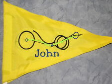 Custom Artsy Recumbent WITH NAME Trike Safety Flag
