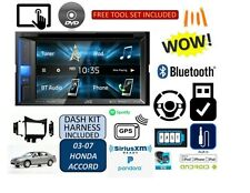 03-07 HONDA ACCORD JVC Bluetooth Stereo CD/DVD Double Din Dash Kit