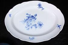 Ovale Servierplatte original MEISSEN Porzellan Blumenbukett blau Platte 49cm #3