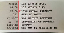 2 x Guns n Roses tickets - Aug 15: Phoenix Stadium, Glendale, Arizona