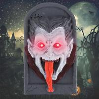 Animated Snake TALKING LIGHTED SKULL DOOR BELL Spooky Sound Halloween Decoration