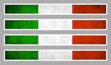 4 X BANDES DRAPEAU ITALIE ITALIEN 11cmX1cm AUTOCOLLANT STICKER AUTO AA158