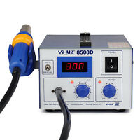 858D Hot Air Heat Gun SMD Rework Station Iron Solder Soldering Welding Tool Blue