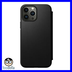 NOMAD Modern Folio Case - genuine Horween Leather for iPhone 13 Pro Max, Black