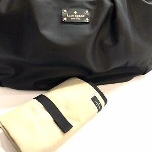 KATE SPADE New York Large Black Nylon Diaper Bag W/Changing Pad