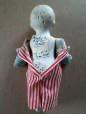 "Vintage 5"" bisque boy doll wired joints arms & legs move"