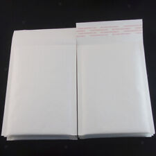 50 Pieces Bubble Padded Envelopes Self Seal Mailers Bags White 12x18cm