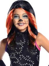 Niño Monster High Skelita Calaveras Peluca Disfraz Accesorio Halloween Niños
