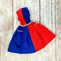 VIntage Barbie #943 Fancy Free Red & Blue Color Block Dress