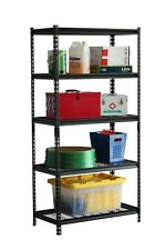 Black 5-Level Shelving with Black Powder Coated Wire Decks