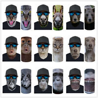 Animals Print Neck Gaiter Bandana Headband Face Scarf Shield Cover Snood Scarves