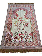 NEW PRAYER RUG-MADE IN TURKEY-ISLAMIC/BQ/SAJADAH/Chenille Taffeta FREE SHIPPING