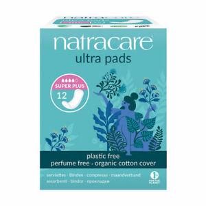 Natracare Ultra Super Plus Organic Cotton 12 Period Pads Multi Buy Savings