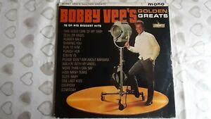"BOBBY VEE     ""BOBBY VEE'S GOLDEN GREATS""     VINYL LP RECORDS"
