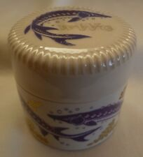 W.G.WHITE LONDON STONEWARE CAVIAR JAR POT  --  W G WHITE LONDON CAVIAR JAR POT