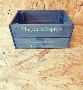 Wooden Harry Potter Hogwarts Express Design Grey Crate Box Storage