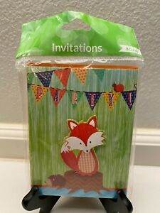 Forest Fox Birthday Party Invitations Party Supplies 8 Count