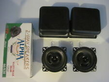 "4"" Universal Speaker Box Enclosure for Car, Van, etc with speakers 60w"