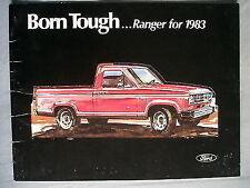 Ford USA Ranger brochure 1983
