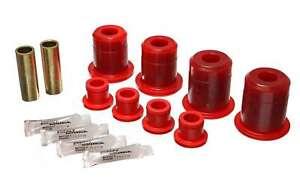 Energy Suspension 4-3161R (Kit) Bushing Kit Hyper-Flex Red Polyurethane