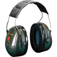 Gehörschutz 3M Kapselgehörschutz Arbeitsschutz OPTIME 2 Dunkelgrün SNR 31dB NEU
