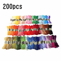 200pcs Embroidery Thread Floss Sewing Cotton Embroidery Yarn Assorted Color