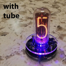 Nixie Clock IN-18 With Tube RGB Backlight Assembled *power from USB, 24h format*