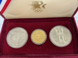 Olympic Proof 1983 & 1984 Silver $1 & 1984-W $10 Gold  Commemorative