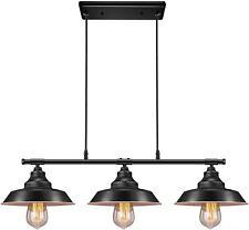 3 Pendant Lighting Kitchen Island Fixture Vintage Industrial Hanging Rustic New